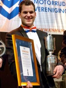 Jannick de Jong ontving in 2013 de Hans de Beaufortbeker.