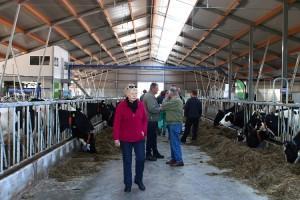 Veel belangstellenden kwamen een kijkje nemen in de nieuwe ligboxenstal. (c) Jan Sybrandy