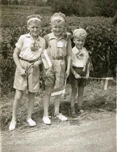 Ekke Foppes, Anne Veenstra en Jan Foppes.