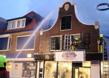 Grote uitslaande brand treft winkelpand Gorredijk