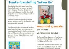 Tomke-voorstelling 'Lekker ite' in bibliotheek Gorredijk